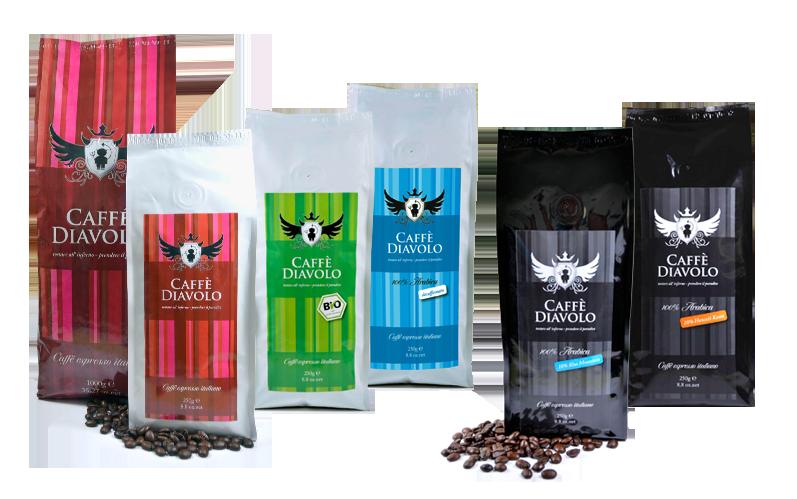 Der Espresso und Kaffee von Caffe Diavolo