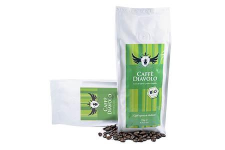 Der Caffe Diavolo Rosso Verde Bio Biokaffe in 250g