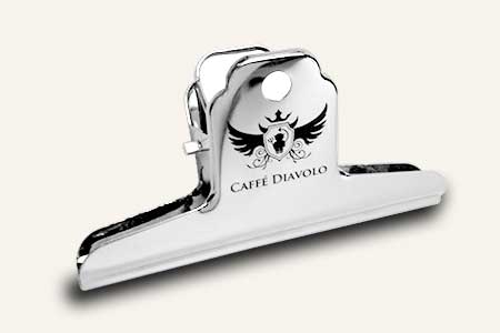 Kaffee Tütenklammer von Caffe Diavolo
