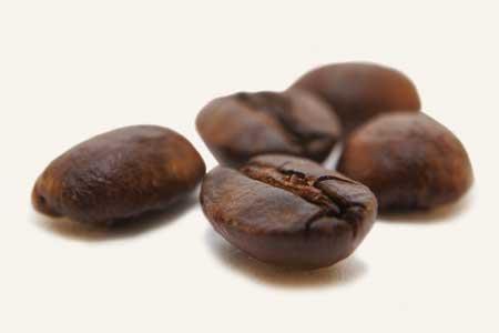 frische Kaffeebohnen Detailansicht