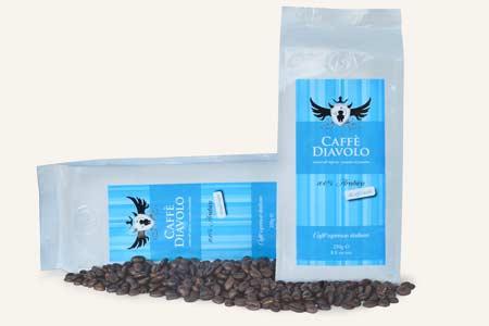 Entkoffeiniert – Diavolo Decaffeinato, entkoffeinierte Kaffeebohnen. Auch für Schwangere